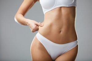 Schlanker Körper mit wenig Fett